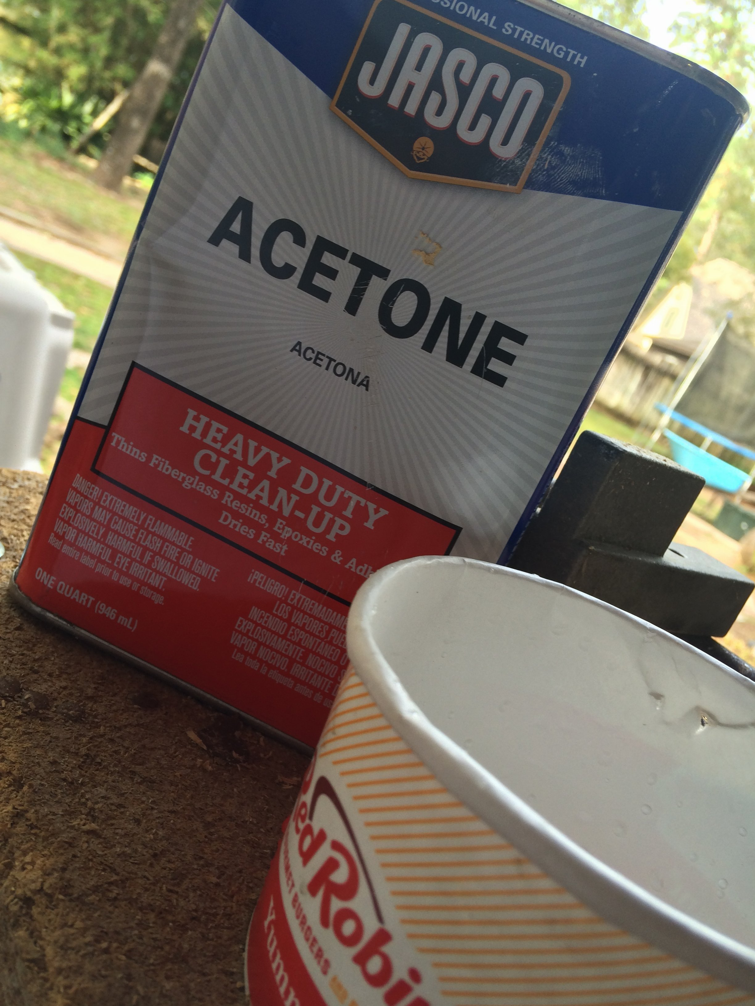 has anyone used acetone instead of alcohol to clean your